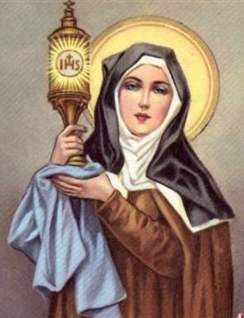 St. Clare elevating the Blessed Sacrament